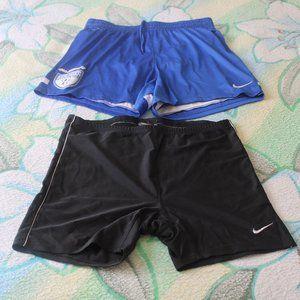 Nike Men's Pair of Shorts ReBlue & Black Size-M It